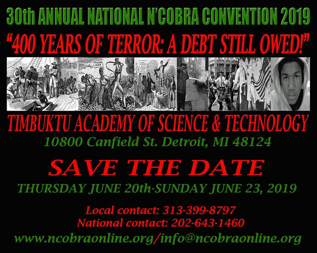 30th-Annual-National-NCOBRA-Convention-2019-poster, Bring our courageous elders home, now!, Culture Currents