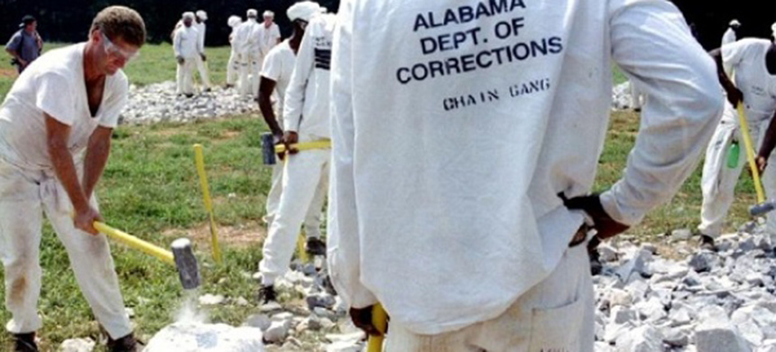 Alabama-prisoners-crush-limestone-rocks-with-sledgehammers-Limestone-Correctional-Facility-by-Reuters, Prison hunger strike supporters to protest outside Alabama's Limestone Prison Saturday, June 22, Behind Enemy Lines