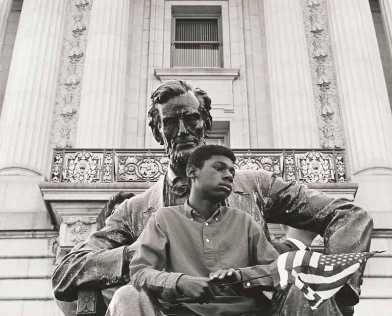 Boy-and-Lincoln-by-David-Johnson-1963, Master Photographer David Johnson returns to his roots, Culture Currents