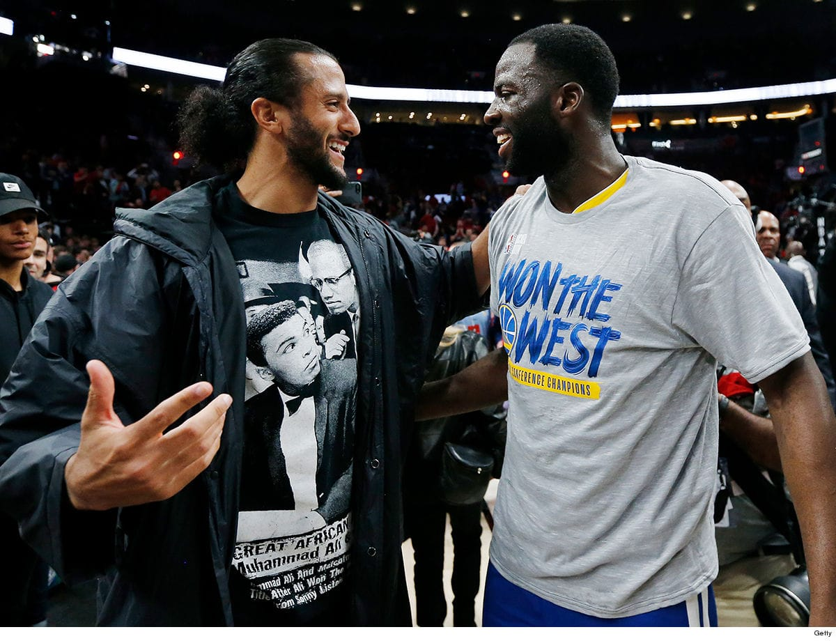Colin-Kaepernick-congratulates-Draymond-Green-Warriors-vs.-Portland-052019, Every Black athlete and entertainer is a means to Black empowerment, Behind Enemy Lines