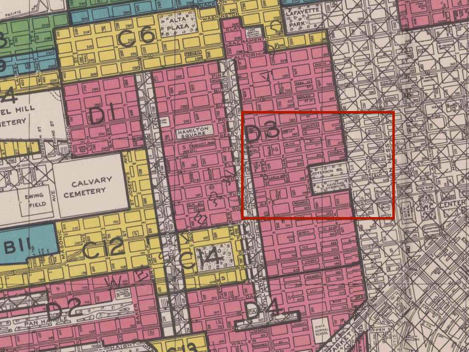 Federal-housing-agency-Fillmore-residential-safety-map-w-Black-areas-in-red-1947-Redevelopment-Project-Area-highlighted-by-localwiki.org_., Fillmore Midtown residents: Righting the wrongs of racist urban renewal, Local News & Views