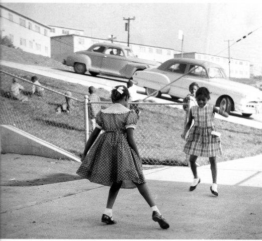 Girls-Playing-Hopscotch-in-Bayview-Hunters-Point-by-David-Johnson, Master Photographer David Johnson returns to his roots, Culture Currents