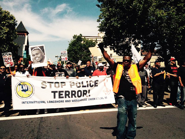 ILWU-Local-10-marches-against-police-terror-on-May-Day-2015-Oakland, Dockworkers show us how unions can be a powerful force against racism, National News & Views