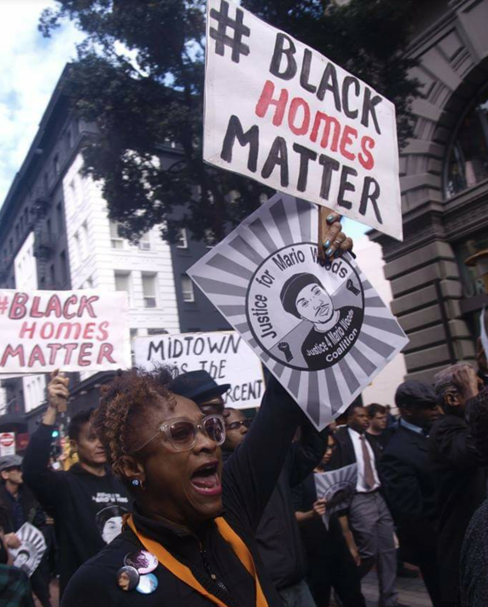Midtown-residents-BlackHomesMatter-march-w-Justice-for-Mario-Woods-2016, Fillmore Midtown residents: Righting the wrongs of racist urban renewal, Local News & Views
