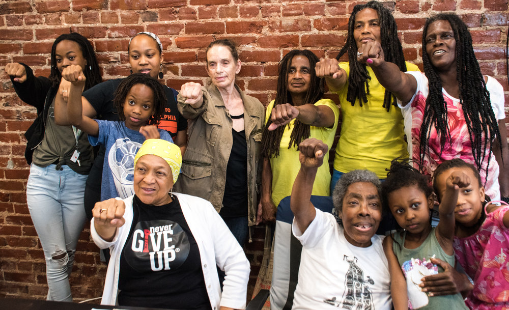 Newly-released-MOVE-9-members-Janet-and-Janine-Africa-other-MOVE-members-after-press-conf-053019-in-Philly-by-Joe-Piette, Act now to save Mumia's eyesight and to demand his release!, Behind Enemy Lines
