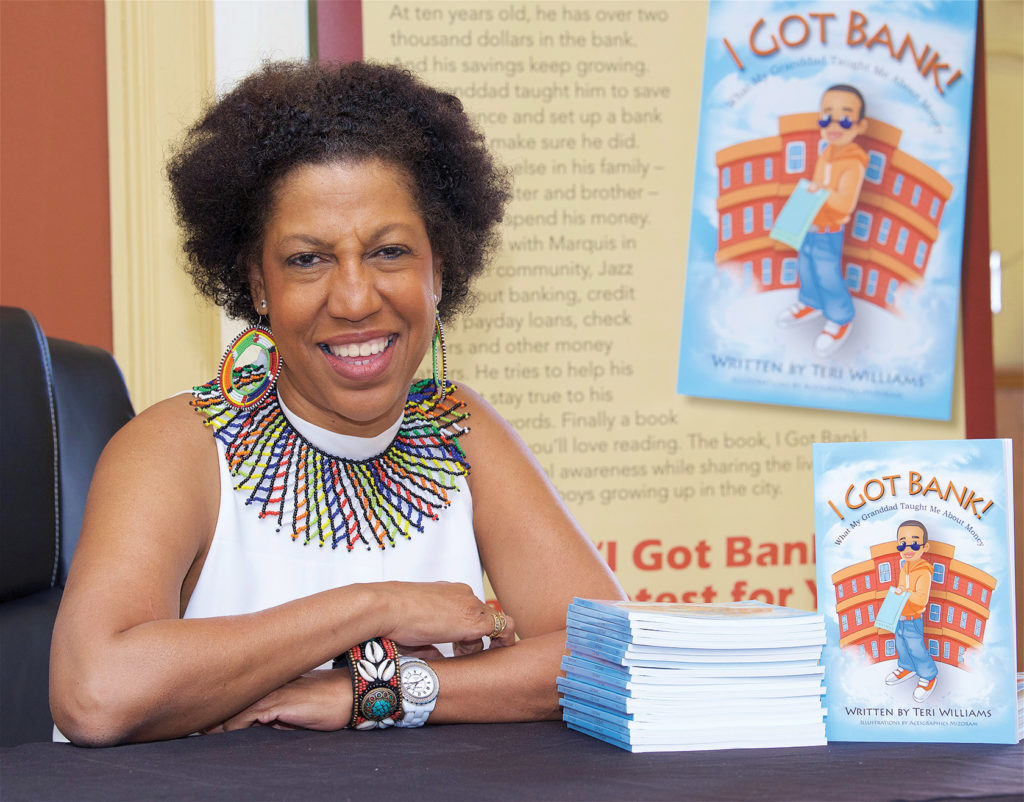 OneUnited-Bank-owner-Teri-Williams-her-book-I-Got-Bank, OneUnited Bank announces 9th annual 'I Got Bank' Youth Financial Literacy Contest, Culture Currents