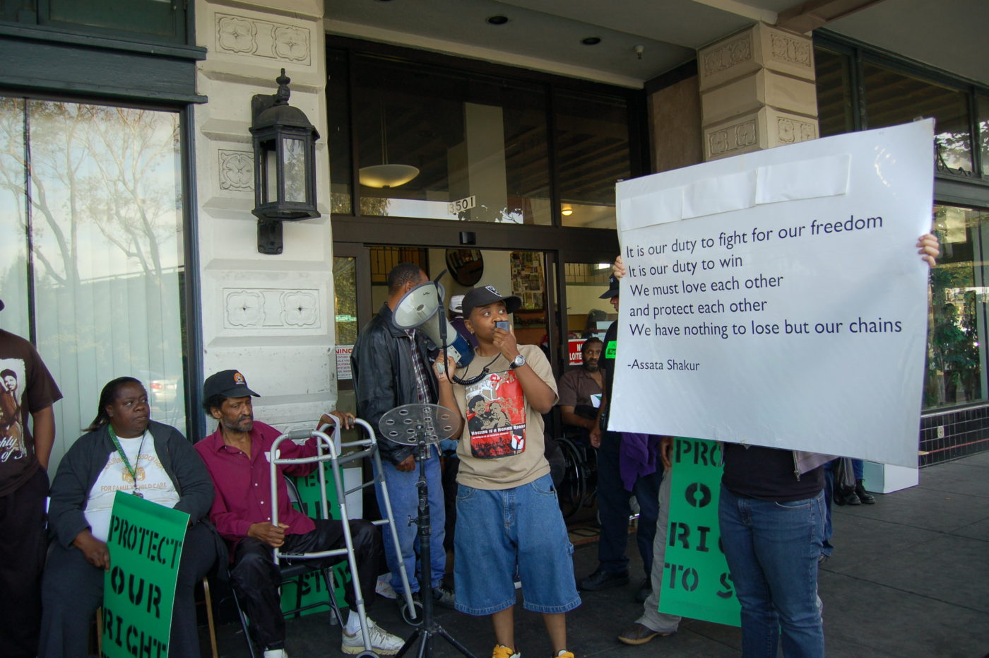 California-Hotel-tenants-rally-with-Assata-Shakur-quote-071408-by-Just-Cause-Oakland-1-1400x931, Big victory for California Hotel tenants, Archives 1976-2008 Local News & Views
