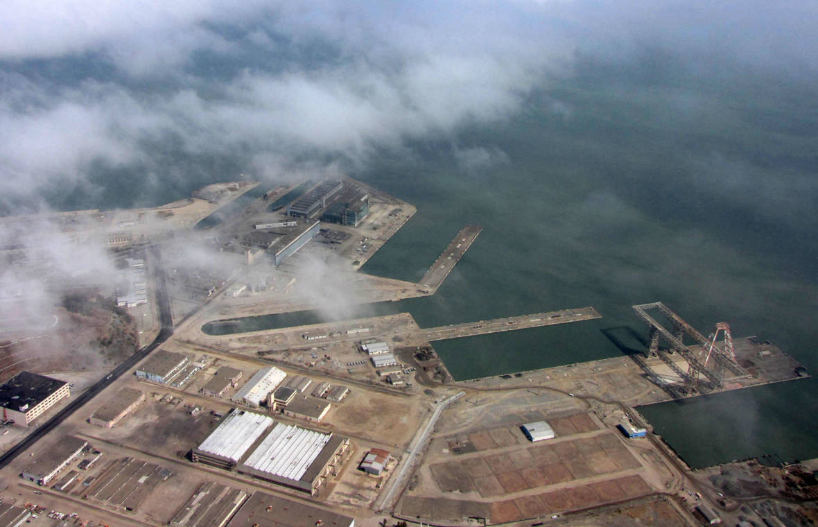 Hunters-Point-Shipyard-aerial-view-from-above-the-clouds-2012-by-Molly-Samuel-KQED, Houses in the MUD, Local News & Views
