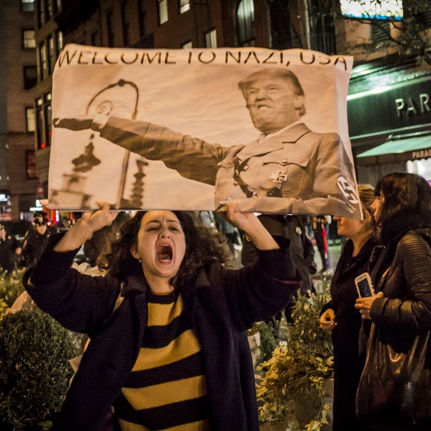 Anti-Trump-protest-Welcome-to-Nazi-USA-0317, Venezuela: An axis of hope, dignity and defiance stands up to the triumvirate of evil, World News & Views