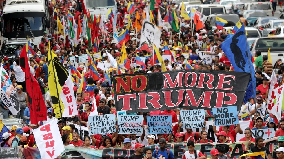Anti-sanctions-march-in-Caracas-Venezuela-081019-by-Manaure-Quintero-Reuters, Venezuela: An axis of hope, dignity and defiance stands up to the triumvirate of evil, World News & Views