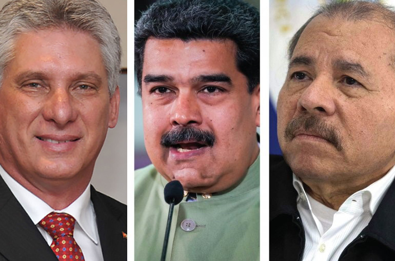 Cuban-President-Miguel-Díaz-Canel-Venezuelan-President-Nicolas-Maduro-Nicaraguan-President-Daniel-Ortega, Venezuela: An axis of hope, dignity and defiance stands up to the triumvirate of evil, World News & Views