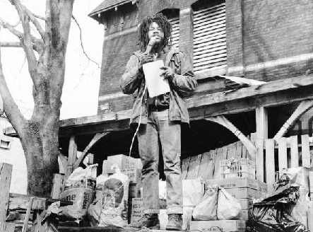 Delbert-Africa-then-MOVE's-primary-spokesman-in-Powelton-Village-1978, Stop a modern day lynching: Don't let Pennsylvania murder MOVE member Delbert Africa, Behind Enemy Lines
