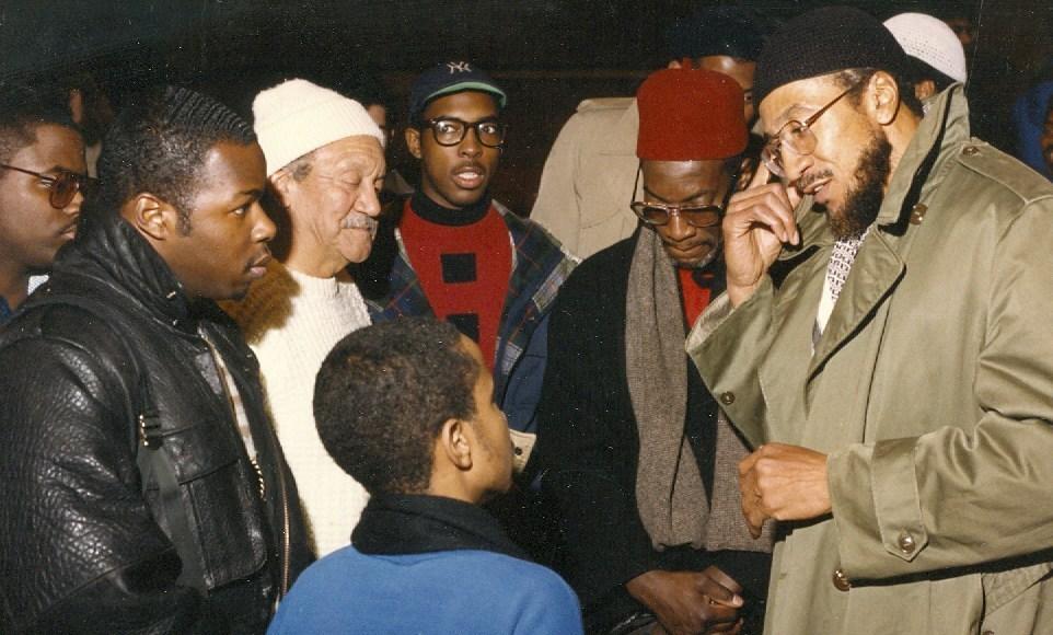 Imam-Jamil-Al-Amin-H.-Rap-Brown-confers-with-the-people-of-Atlanta's-West-End-by-Khalil-Abdulkhabir, Black, Muslim, freedom fighter: Free Imam Jamil Al-Amin!, Behind Enemy Lines
