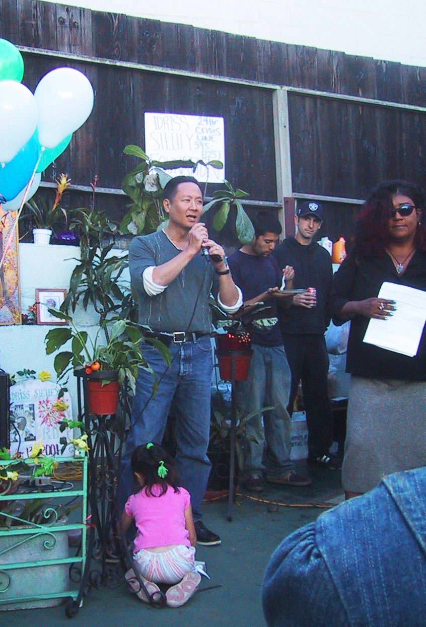 Jeff-Adachi-speaks-for-Idriss-Stelley-Foundation-in-SFBV-ISF-backyard, Jeff Adachi Way needs your support: Sign petition and send an email to City Hall, Local News & Views