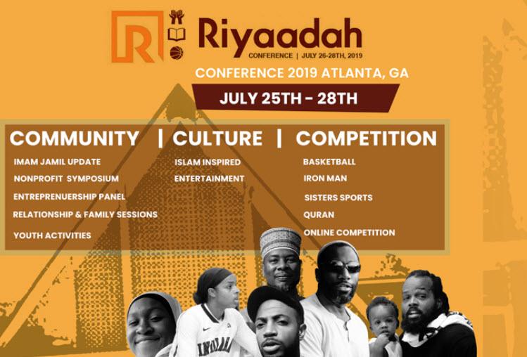 Riyaadah-Conference-CNN-Center-Atlanta-0725-2819-poster, Black, Muslim, freedom fighter: Free Imam Jamil Al-Amin!, Behind Enemy Lines