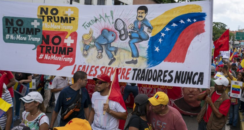 Venezuela-No-more-Trump-protest-Maduro-kicking-080519, Venezuela: An axis of hope, dignity and defiance stands up to the triumvirate of evil, World News & Views