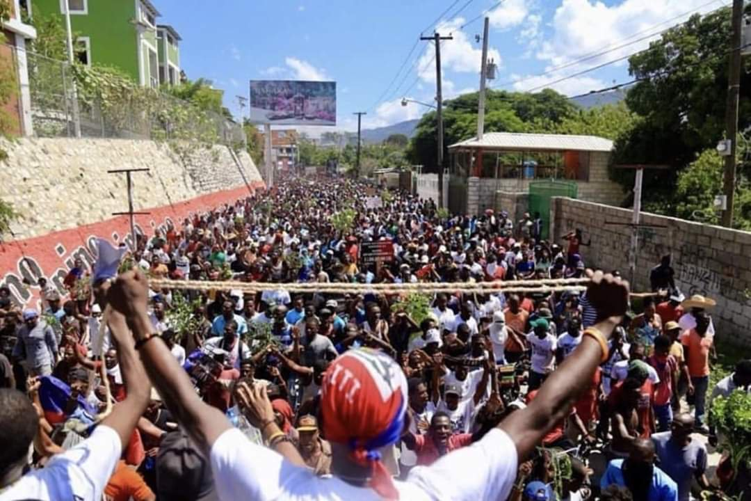Haiti-protest-huge-crowd-man-w-rope-in-foreground-2019, Stop the Massacres in Haiti Week of Action, World News & Views