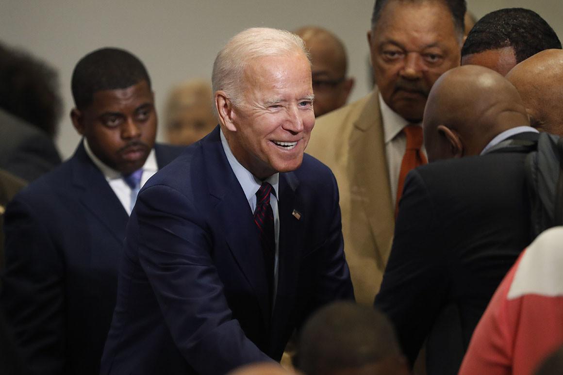 Joe-Biden-curries-favor-w-Black-leaders-0619-by-Charles-Rex-Arbogast-AP, Biden his time, National News & Views