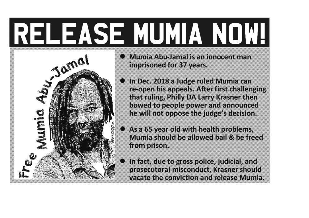 Release-Mumia-Now-poster, New evidence of innocence spurs two court filings for Mumia Abu-Jamal, Behind Enemy Lines