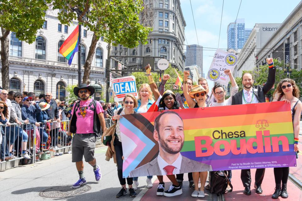 Chesa-Boudin-campaign-marching-at-Pride-063019, As San Francisco mothers raising the next generation of San Franciscans, we will vote for Chesa Boudin for District Attorney, Local News & Views