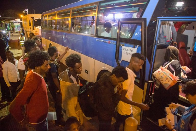 First-group-of-migrants-stranded-in-Libya-arrive-in-Rwanda-092619-by-Cyril-Ndegeya-AFP, Rwanda: Murder of dissidents continues as migrants are shipped in, World News & Views