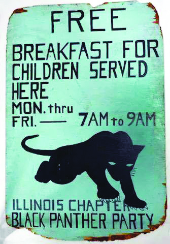 Free-Breakfast-for-Children-Served-Here-poster-by-Illinois-Chapter-Black-Panther-Party, Long live the greatest threat to the internal security of the US, the Black Panther Party!, Culture Currents