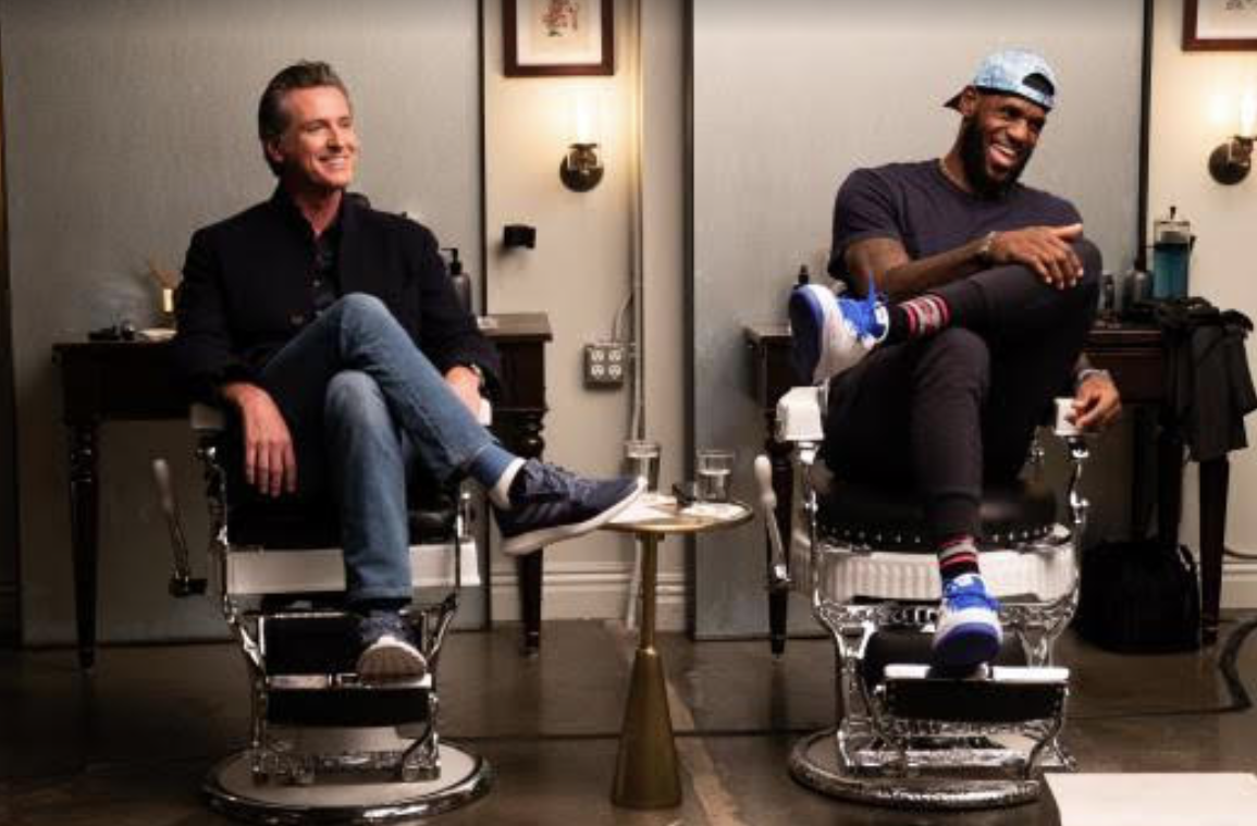 Gov.-Gavin-Newsom-LeBron-James-celebrate-'Fair-Pay-to-Play-Act'-on-HBOs-The-Shop-093019, Black student athletes in California can now say, 'Show me the money', National News & Views