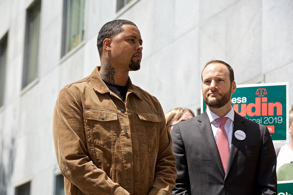 Jamal-Trulove-7-yrs-in-prison-on-wrongful-conviction-w-DA-cand-Chesa-Boudin-proposing-innocence-unit-043019-by-Examiner, Make anti-racist Chesa Boudin our SF DA, Local News & Views