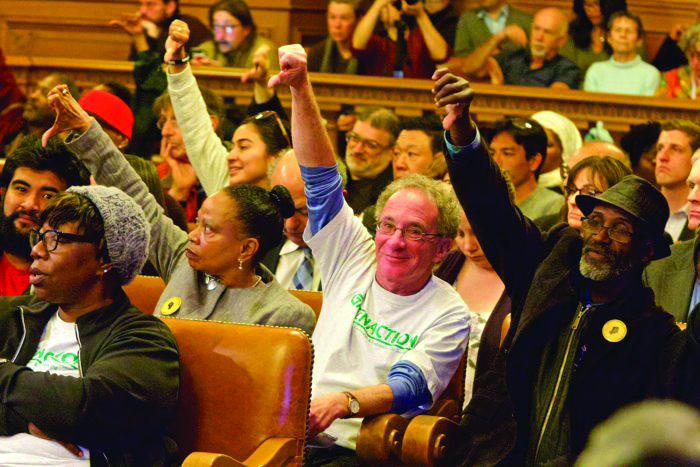 Thumbs-down-from-Dr.-Ahimsa-Sumchai-Greenaction-Exec-Dir-Bradley-Angel, Power concedes nothing without a demand: Community demands reinstatement of Hunters Point Shipyard RAB, Local News & Views