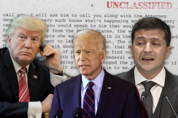 Trump-Biden-Zelensky-phone-call-furrowed-brows, Impeachment folly, National News & Views