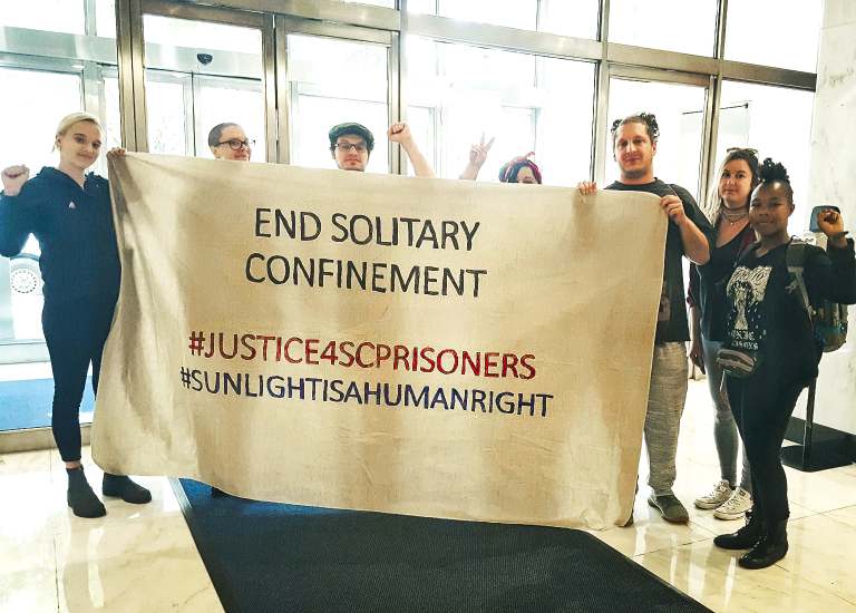 End-Solitary-Confinement'-DC-Abolition-Coalition-DC-IWOC-deliver-South-Carolina-prisoners'-demands-to-DC-UN-office-102319, Activists across the world deliver South Carolina prisoners' demands to United Nations, Behind Enemy Lines