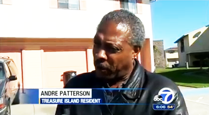 Andre-Patterson-interviewed-by-Sergio-Quintana-on-ABC7-111313, Treasure Island Superfund denial based on misinformation, Local News & Views