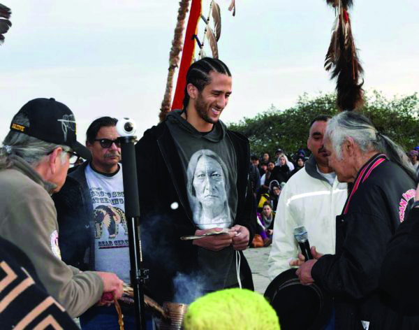 Colin-Kaepernick-honored-at-Indigenous-Peoples-Sunrise-Ceremony-on-Alcatraz-'Thanksgiving-Day'-112819-by-Christopher-Burquez-Native-News-Online, #NoKapNoNFL, Behind Enemy Lines