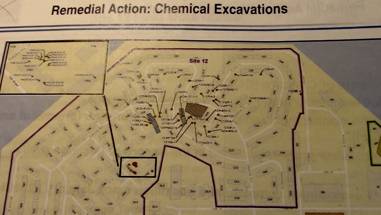 Treasure-Island-Navy-map-of-Site-12-northern-neighborhoods-chemical-excavations, Navy removes an estimated 163+ new radiation deposits from two toxic dumps and dangerously radioactive soil from under occupied Treasure Island home, Local News & Views