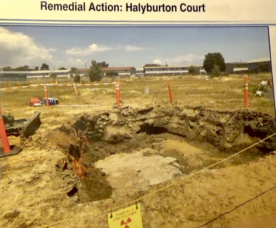 Treasure-Island-Navy-photo-of-radiation-dig-Halyburton-Court-2, Navy removes an estimated 163+ new radiation deposits from two toxic dumps and dangerously radioactive soil from under occupied Treasure Island home, Local News & Views