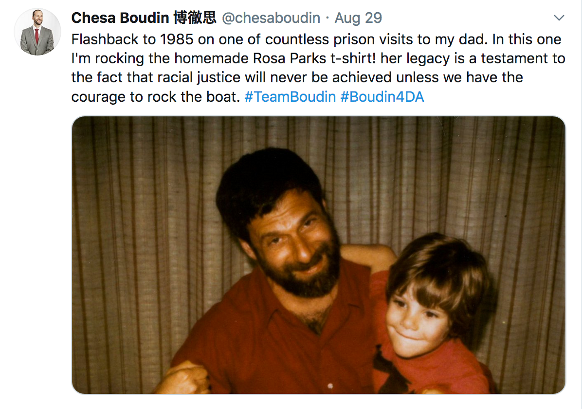 David-Gilbert-and-Chesa-Boudin-as-a-child, We must collectively champion the restorative justice policies of Chesa Boudin, Featured Local News & Views
