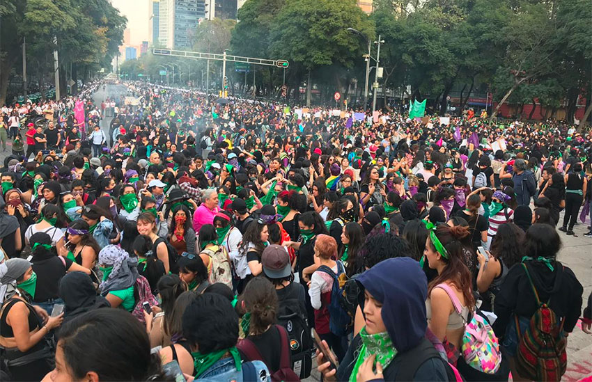 Demanding-no-more-femicides-3000-women-marched-to-Zocalo-in-Mexico-City-112519-by-Mexico-News-Daily, California prisoners call for end to machismo and femicide in Mexico, World News & Views