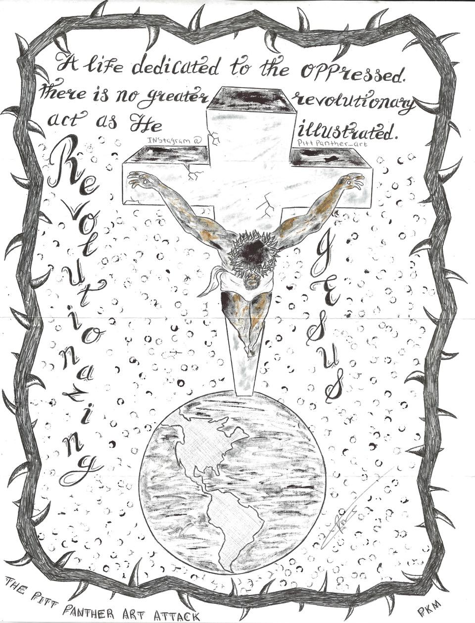 Revolutionary-Jesus-art-by-Comrade-Pitt-Peter-Kamau-Mukuria-NABPP-0919-1, Revolutionary Jesus, Culture Currents