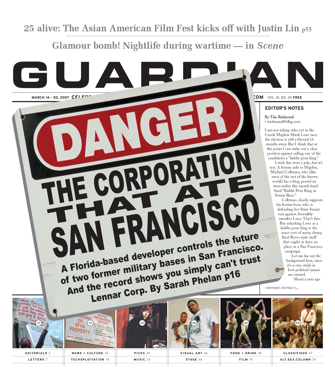 Guardian-Lennar-cover-031407, Lennar builds shoddy homes, Archives 1976-2008 Featured Local News & Views