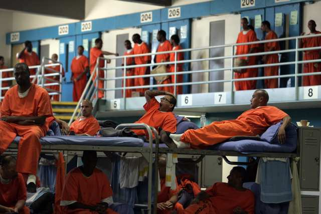 Overcrowded-CSP-Lancaster-061010-by-Gary-Friedman-LA-Times, Justice organizations call on California Gov. Newsom to act now to reduce COVID-19 risks in state prisons, Behind Enemy Lines
