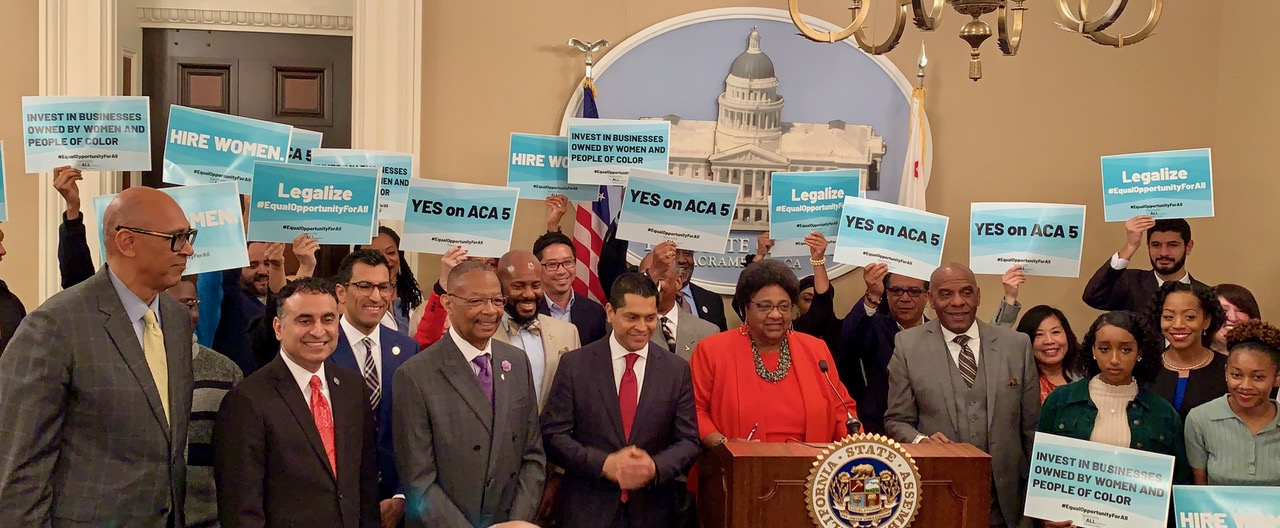 Repeal-Prop-209-Assemblymember-Shirley-Weber-D-San-Diego-holds-press-conf-w-legislators-advocates-students-031020-at-Capitol-by-CBM, Black Caucus introduces bill to overturn Prop 209, Local News & Views