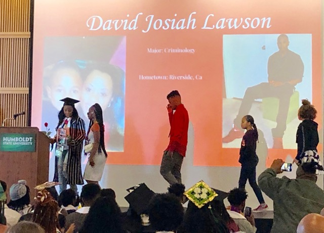 Charmaine-Lawson-takes-Josiah's-place-HSU-Black-Heritage-Graduation-051819-by-Karpani-Burns, Justice for Josiah: Humboldt community demands action on third anniversary of Black student's murder, Local News & Views