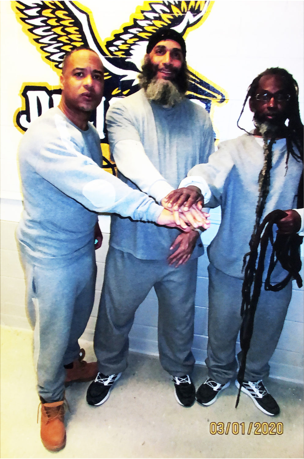 Comrade-Malik-flanked-by-Ice-Hisan-Lee-Kush-I-Robert-T.-Smith-USP-Pollock-030120, Comrade Malik: Is prison authorities' real plan 'Let the prisoners die'?, Behind Enemy Lines