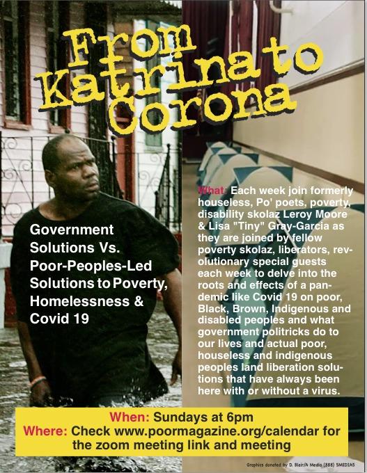 Katrina-to-Corona-Poor-Mag-zoom-meeting-poster-0420, Has corona killed capitalism?, Local News & Views