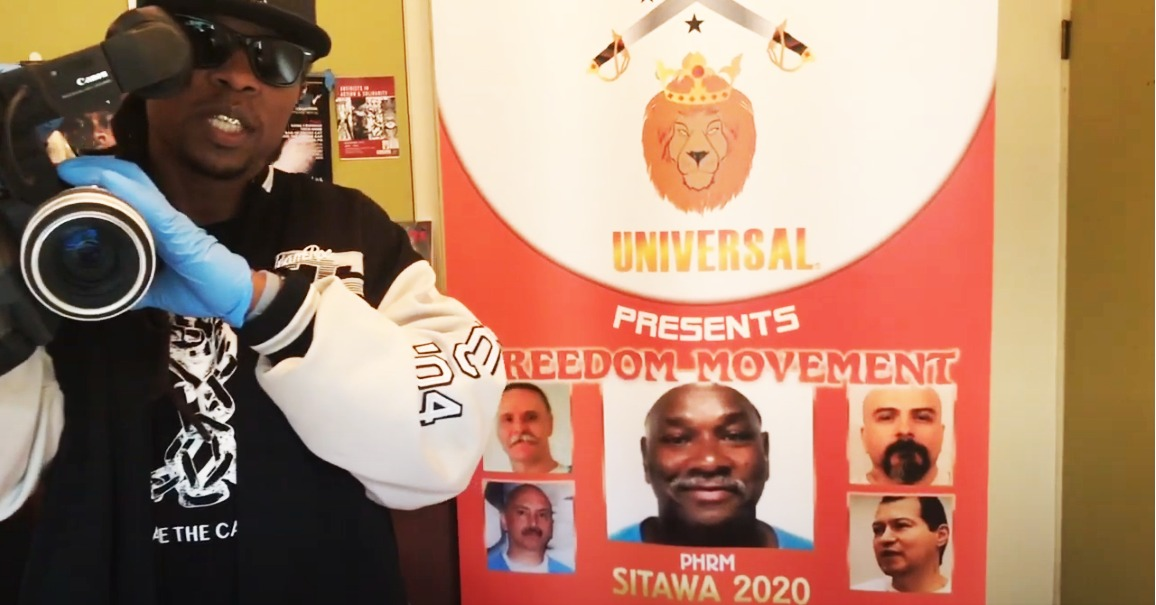 Min.-King-X-shoots-Calif-Prison-Focus-1st-commercial-to-free-Sitawa-main-reps-032720, Does the COVID-19 virus mean California prisons will be ethnically cleansed?, Behind Enemy Lines