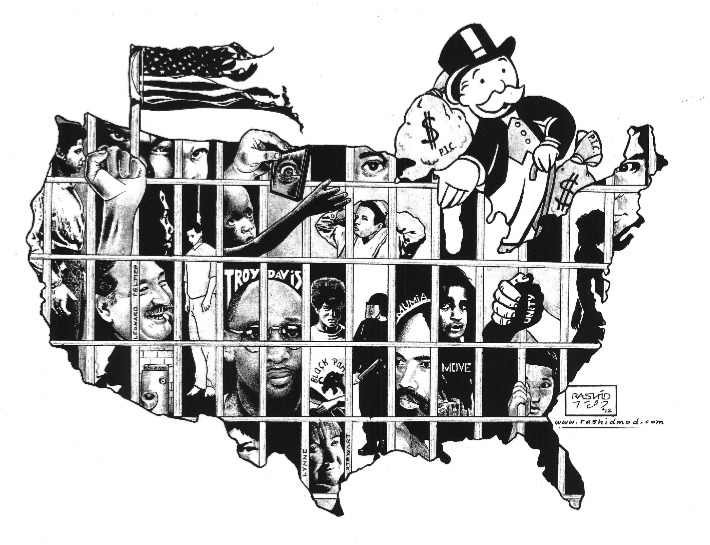 National-Occupy-Day-in-Support-of-Prisoners-022012-art-by-Kevin-Rashid-Johnson, Failed response to coronavirus in Indiana's Pendleton Correctional Facility, Behind Enemy Lines