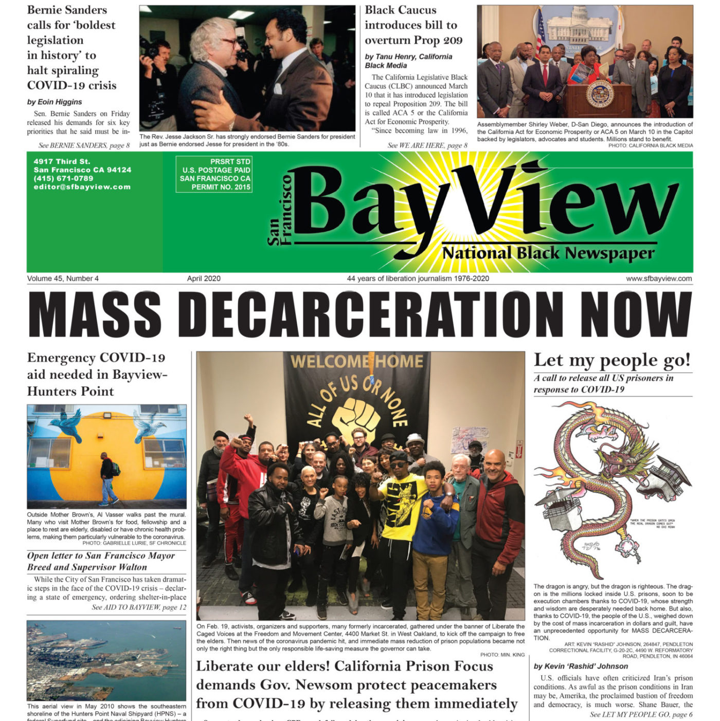SF-Bay-View-0420-front-page-web-cropped-1400x1403, MASS DECARCERATION NOW, Behind Enemy Lines