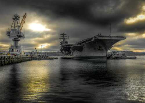 USS-Nimitz-in-Puget-Sound-Naval-Shipyard, The USS COVID-19, from Puget Sound to Guam, National News & Views