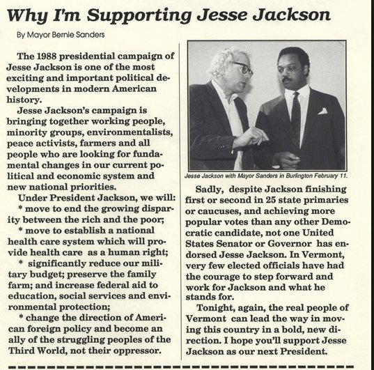Why-Im-Supporting-Jesse-Jackson-by-Mayor-Bernie-Sanders-statement-1988, Rev. Jesse Jackson: Let prisoners go during COVID-19 pandemic, National News & Views