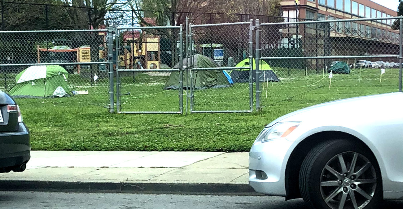 Beds-4-Bayview-4-residents-move-into-tents-040920-in-afternoon-1400x727, Community seizes MLK Park as immediate COVID relief for unhoused neighbors, Local News & Views